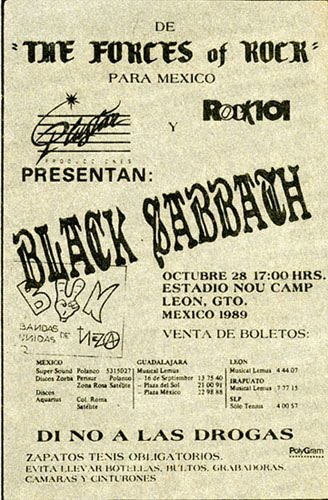 Black Sabbath cartel 1989
