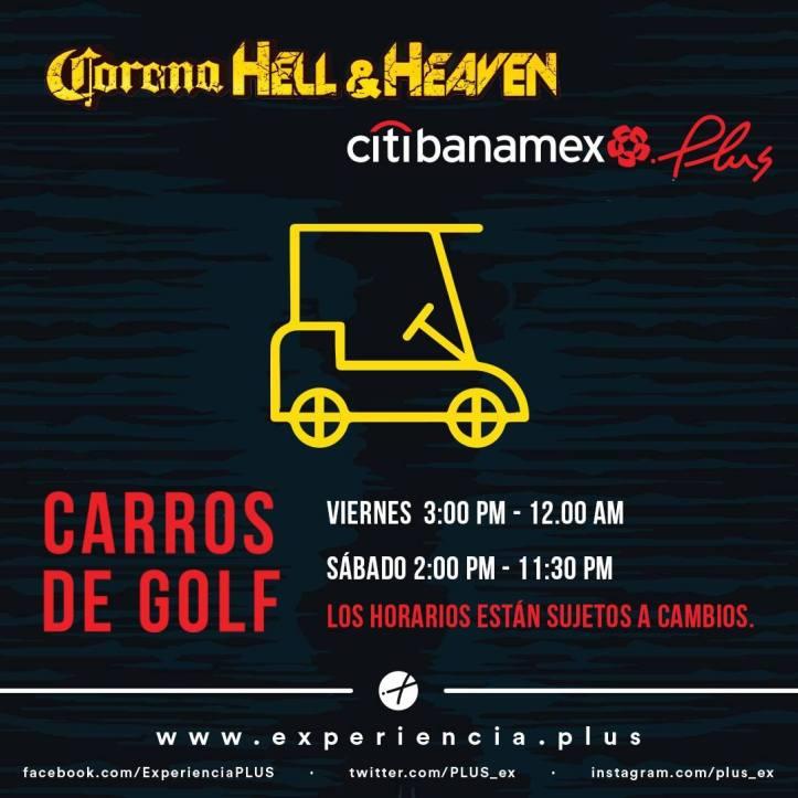 Corona Hell and Heaven 2018 - Carros de Golf