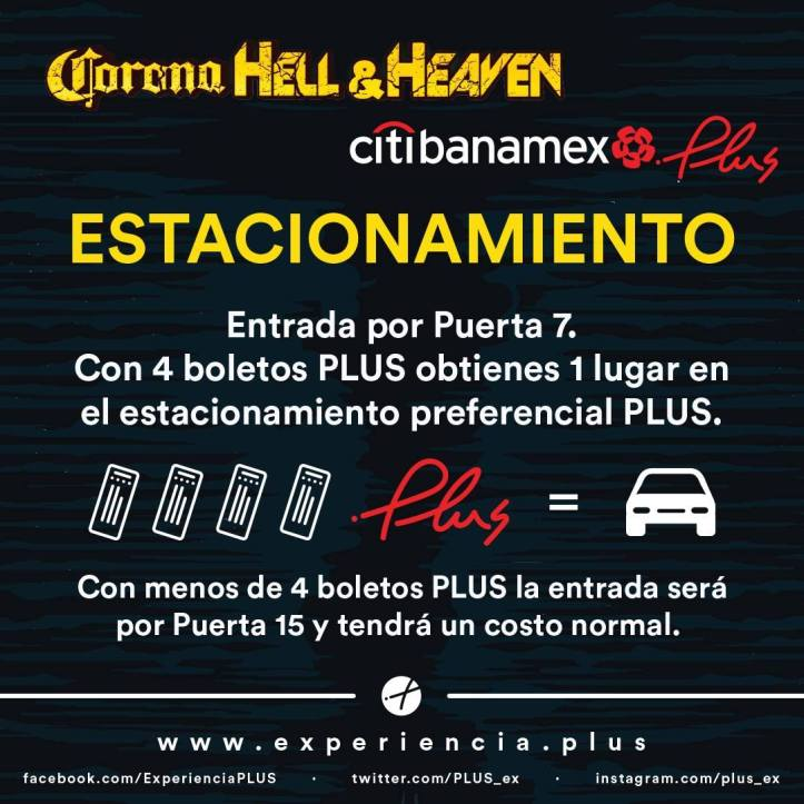 Corona Hell and Heaven 2018 - Estacionamiento